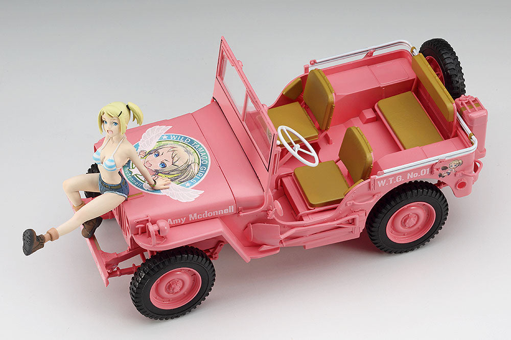 "WILD EGG GIRLS NO. 1 - 1/24 1/4 TON 4x4 UTILITY TRUCK ""AMY McDONNELL"" WITH EGG GIRL FIGURE by HASEGAWA"
