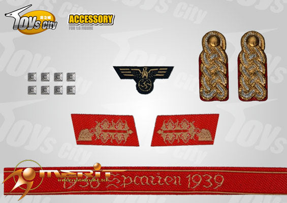 1/6 WWII GERMAN ARYM INSIGNIAS SET 15