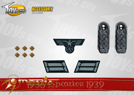 1/6 WWII GERMAN ARYM INSIGNIAS SET 17