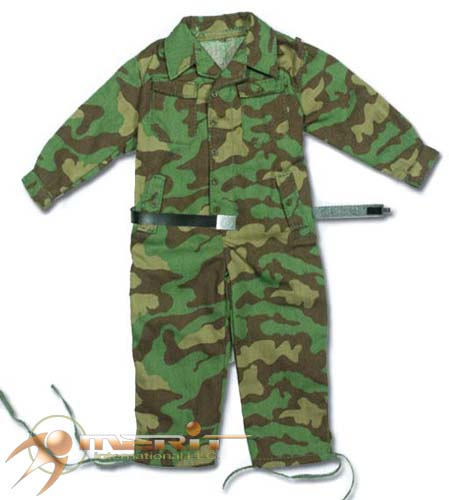 1/6 ITALIAN CAMO JUMPSUIT W/WAFFEN SS LEATHER BELT