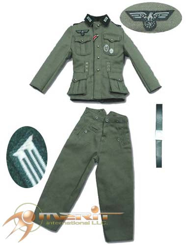 1/6 GERMAN ARMY M36 UNIFORM-FIELD GRAY W/EMBROILED COLLAR