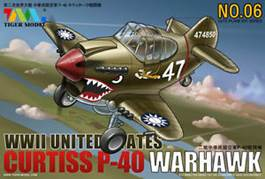 EGG PLANE - WWII U.S. P-40 WARHAWK (TIGER MODEL)