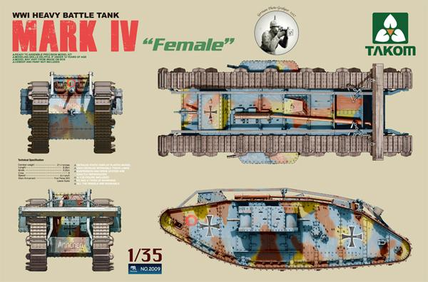 1/35 WWI HEAVY BATTLE TANK MARK IV FEMALE
