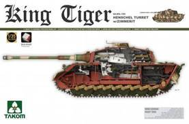 1/35 GERMAN TIGER II W/HENSCHEL TURRET & ZIMMERIT & INTERIO