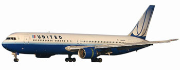 1/500 767-300 UNITED NEW COLORS REG: N644UA