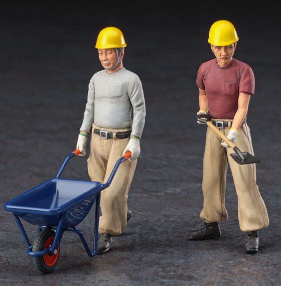 1/35 CONSTRUCTION WORKER SET A by HASEGAWA