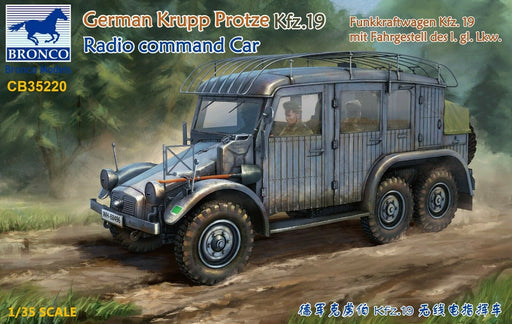 1/35 GERMAN KRUPP PROTZE KFZ.19 RADIO COMMAND CAR BY BRONCO MODELS