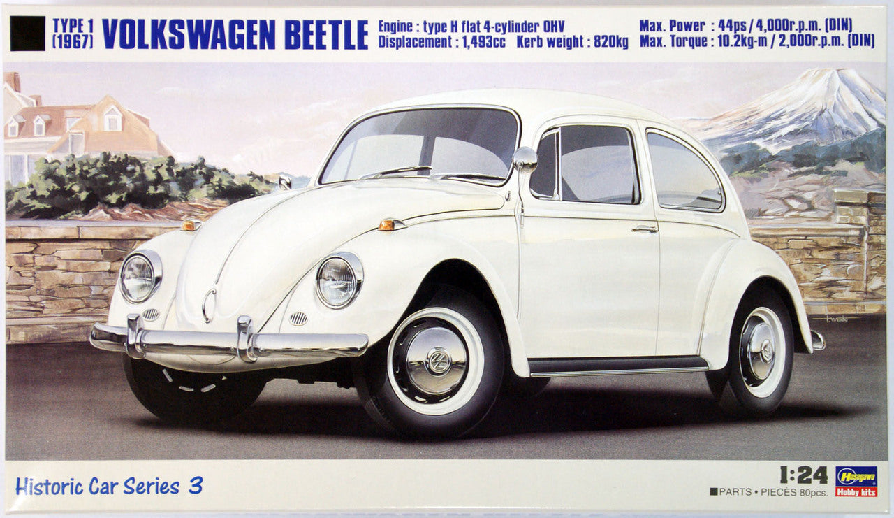 1/24 VOLKSWAGEN BEETLE TYPE 1 (1967) by HASEGAWA