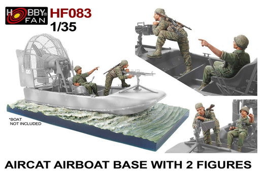 1/35 Hurricane AIRCAT Airboat  WATERAMA BASE AND 2 FIGURES by Hobby Fan