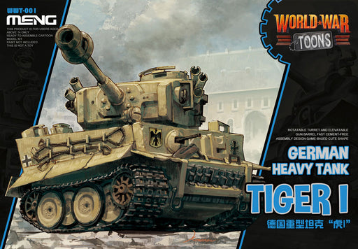 MENG MODELS  MEN-WWT001 - WORLD WAR TOONS GERMAN TIGER I HEAVY TANK