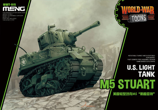 MENG MODELS  MEN-WWT012 - WORLD WAR TOONS U.S. M5 STUART LIGHT TANK