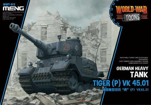 MENG MODELS  MEN-WWT015 - WORLD WAR TOONS GERMAN TIGER (P) VK45 HEAVY TANK