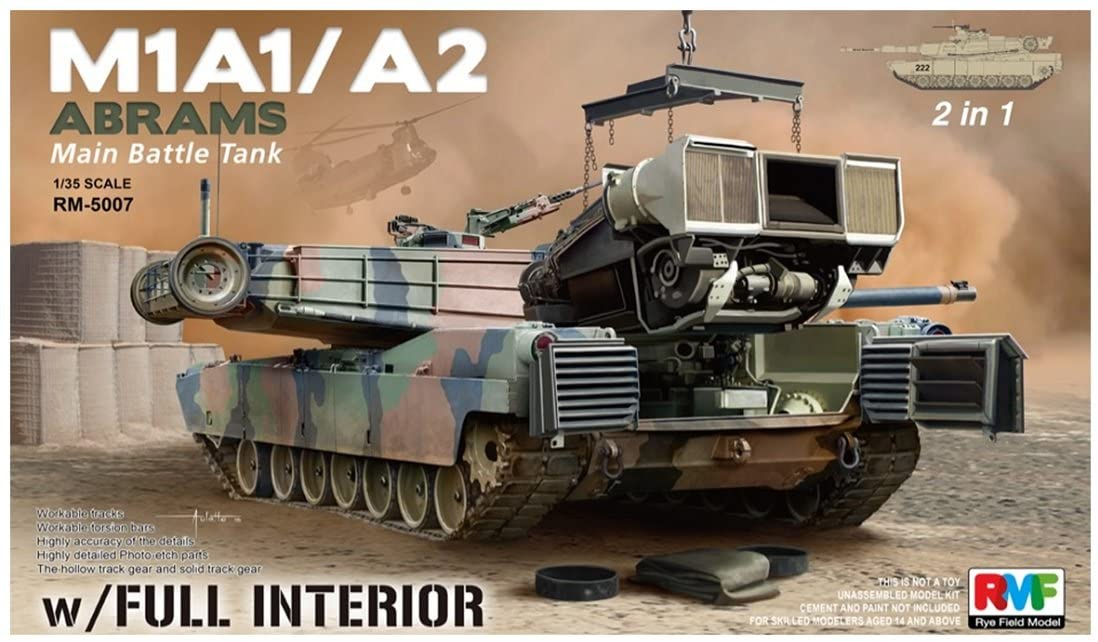 1/35 M1A1 ABRAMS W/FULL INTERIOR 2 IN 1 (RYM FIELD MODE RYEFIELD MODEL 5007