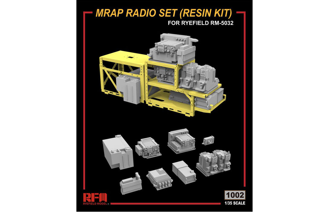 1/35 U.S. M1240A1 M-ATV MRAP RADIO RESIN DETAIL SET RYEFIELD MODEL 1002
