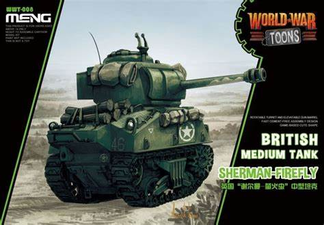 MENG MODELS  MEN-WWT008 - WORLD WAR TOONS BRITISH FIREFLY SHERMAN MEDIUM TANK
