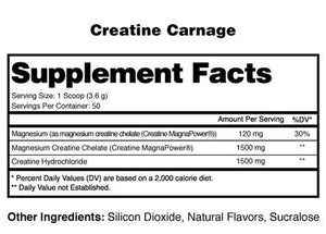 Creatine Carnage - 1 TEMPLE NUTRITION