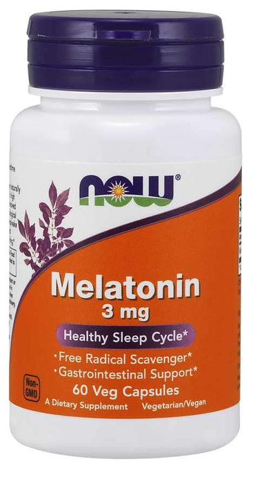 Melatonin 3mg 60 Caps - 1 TEMPLE NUTRITION