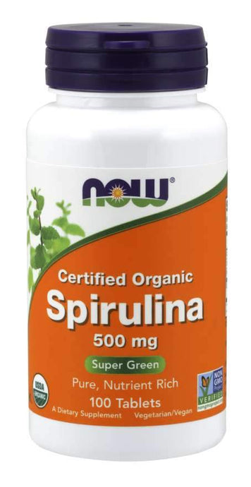 Spirulina 500mg 100 Tabs - 1 TEMPLE NUTRITION