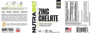 Zinc Chelate - 1 TEMPLE NUTRITION