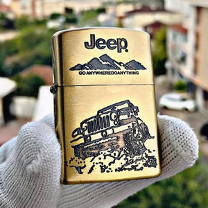 Zippo Jeep Golden Engraved Lighter