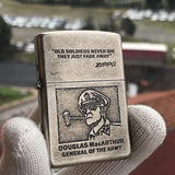 Zippo General MacArthur Silver Engraved Lighter