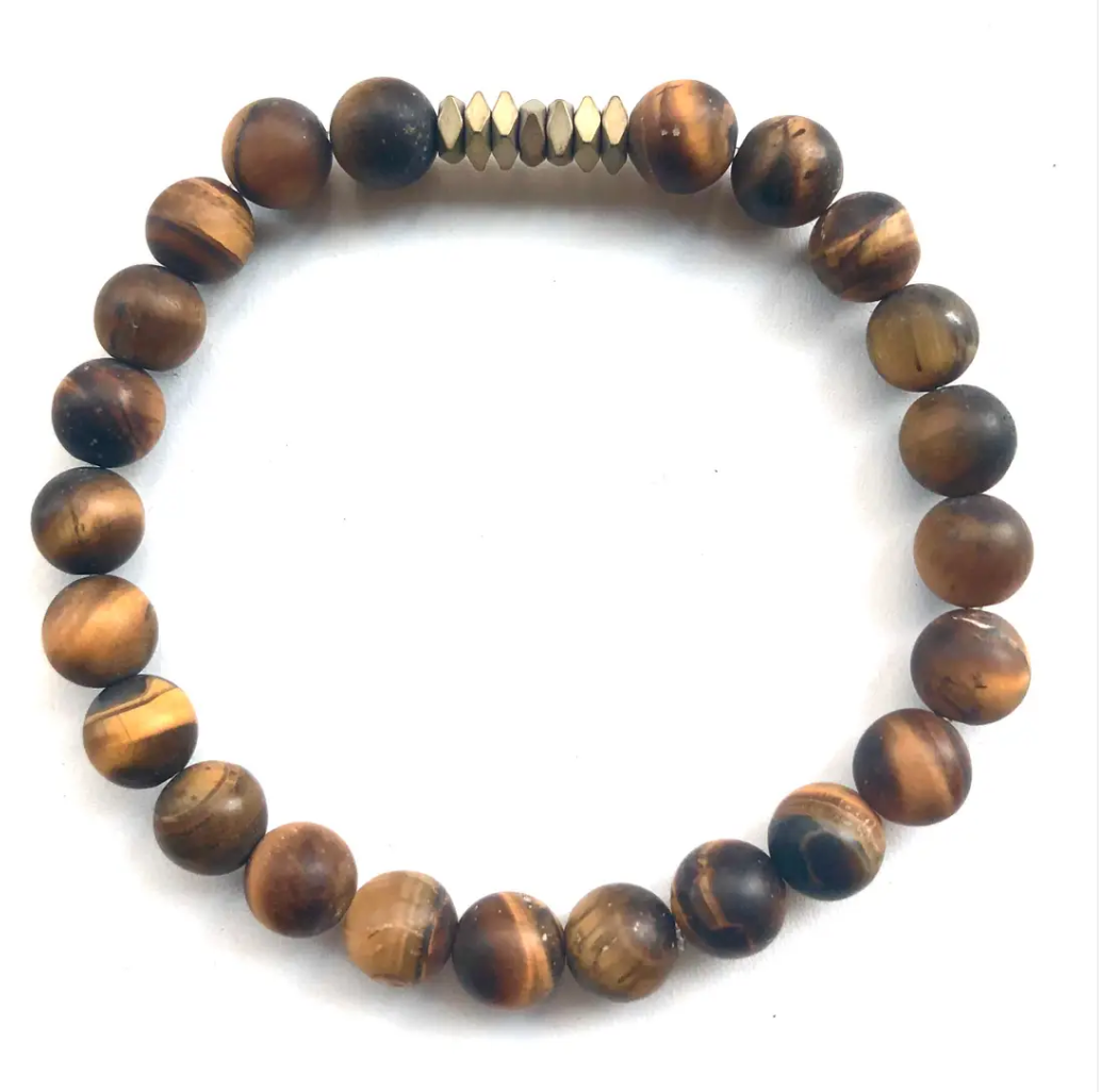 Scotty- Men's Beaded Stone Bracelet