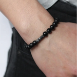 Load image into Gallery viewer, Promenade- Men's Beaded Stone Bracelet