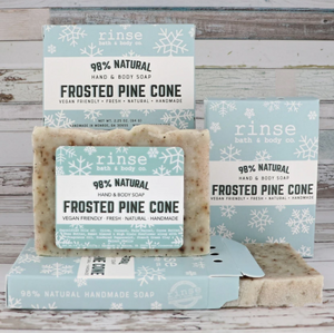 Mini Frosted Pine Cone Soap