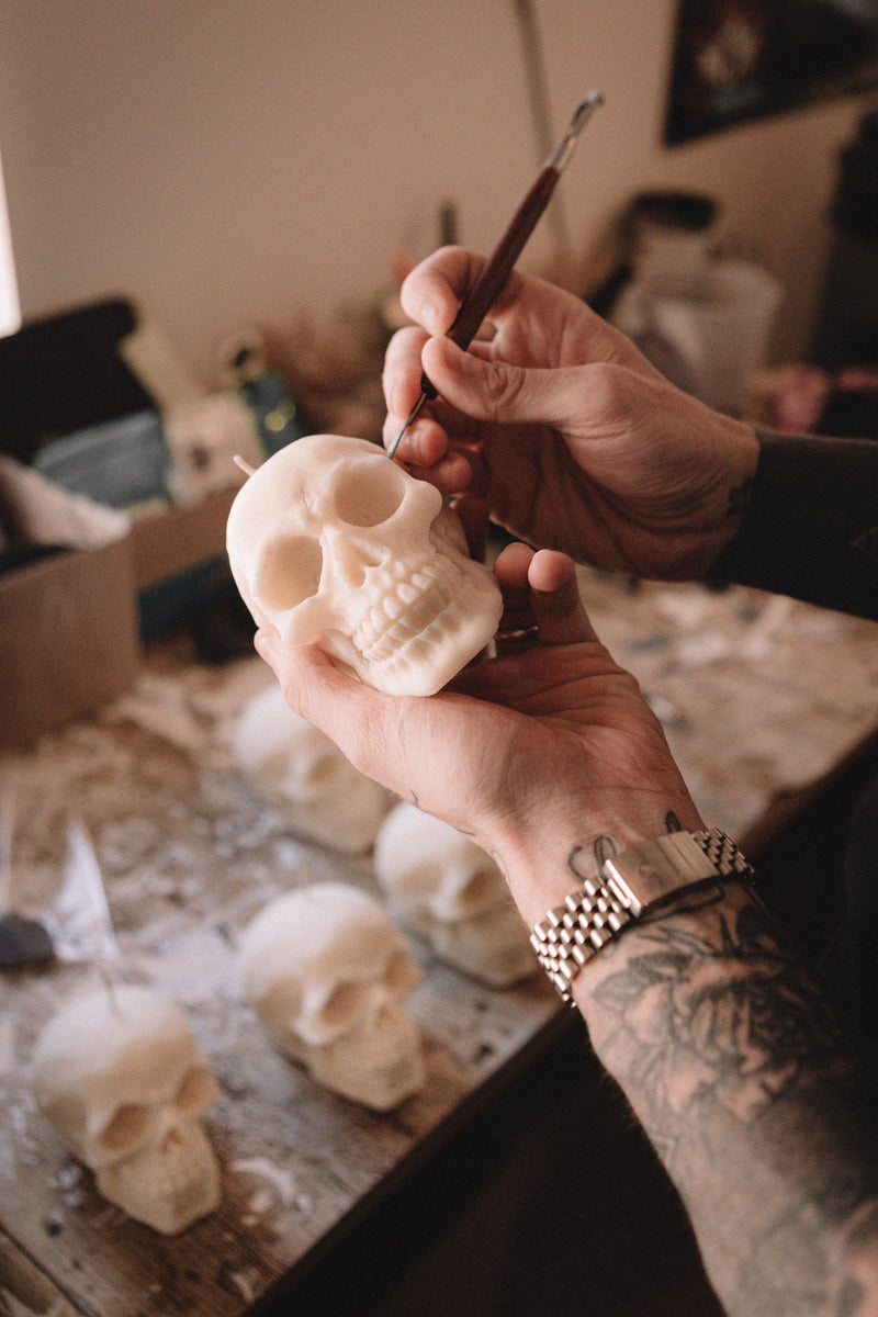 the scent coven where alchemy meets art, gothic luxury candle brand, gothic candles, skull candles, raven wax melts, raven candle, vegan gothic wax melts, cruelty free candle company, UK gothic candles, UK gothic soy wax