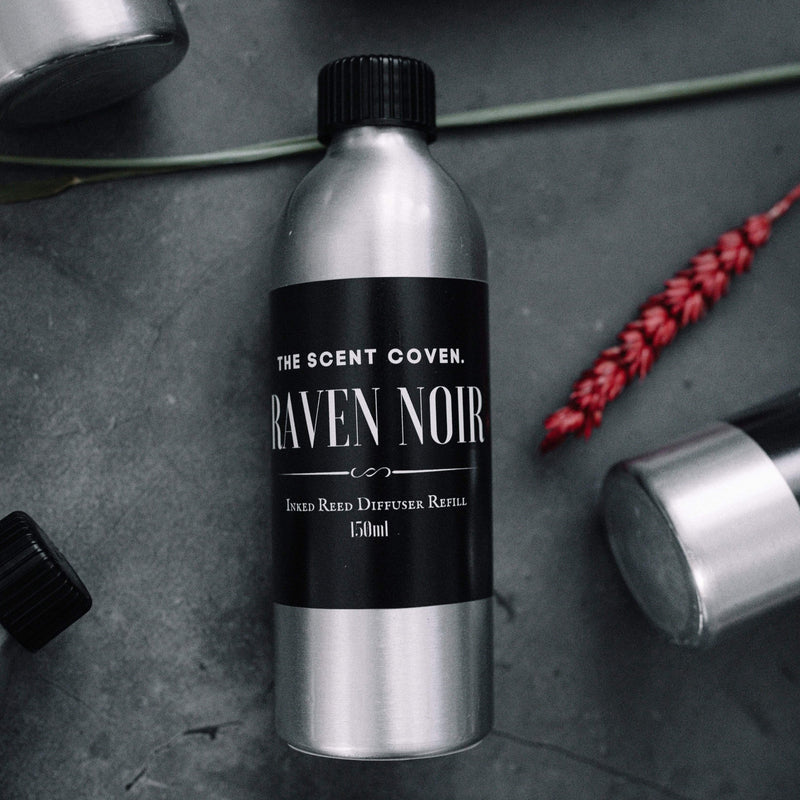 Inked Reed Diffuser REFILL - RAVEN NOIR