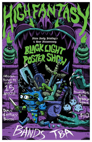 Screen Printin Horror Geekin Years This January And To Celebrate Were Taking Things Another Dimension With An All Black Light Poster Show
