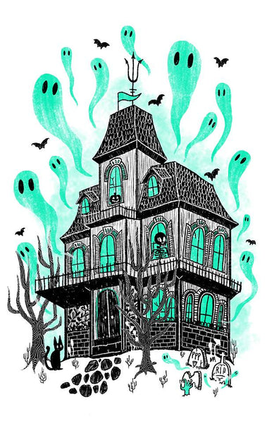 Haunted House Glow-in-the-Dark Poster