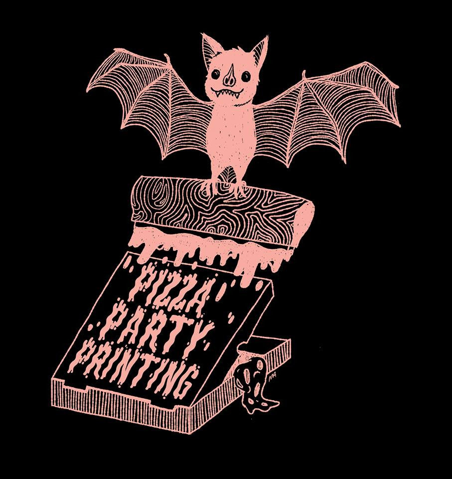 Pizza Party Bat T-Shirt