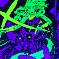 The Gorgon Black Light Poster by Andrew MacLean