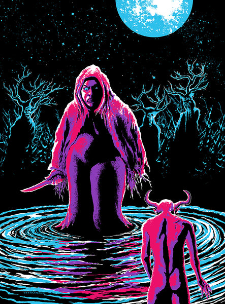 Bog of Castration Black Light Poster by Ru Gomez