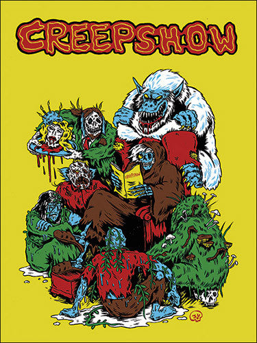 Yellow Creepshow Sticker
