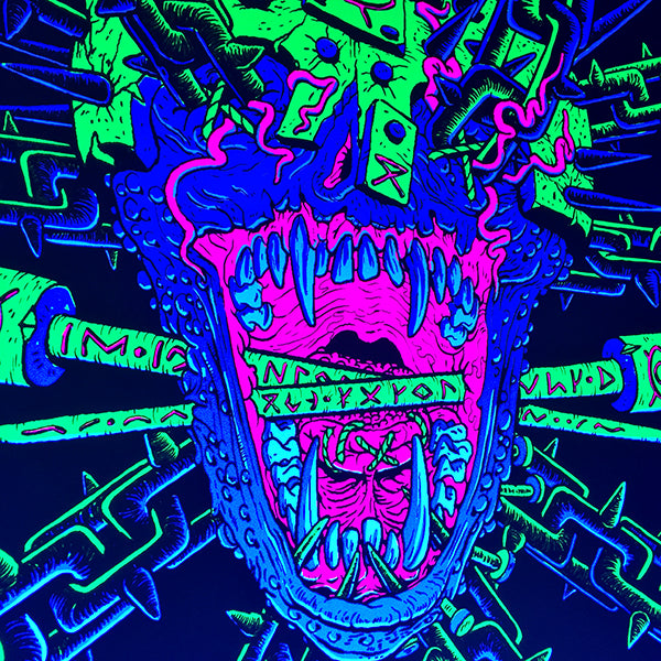 Bound Black Light Poster by Jon Vermilyea