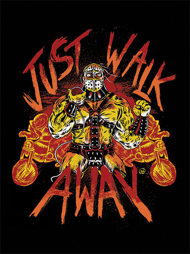 Just Walk Away Sticker