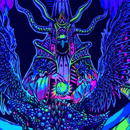 Xeethra, Black Witch of the Mountain Black Light Poster by Justine Jones