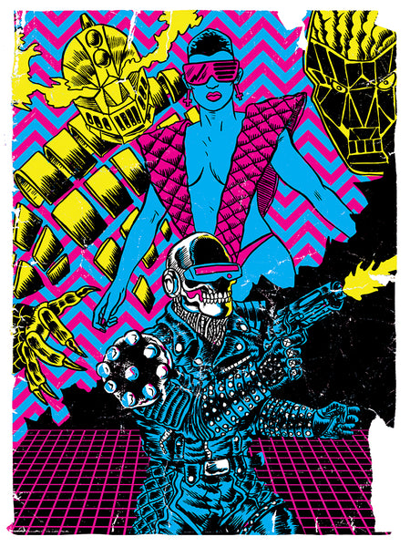 Night Hunters Black Light Poster by Alexis Ziritt