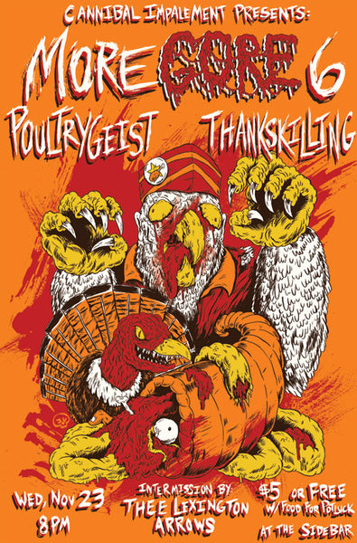 Poultrygeist - Thankskilling Screen Printed Poster