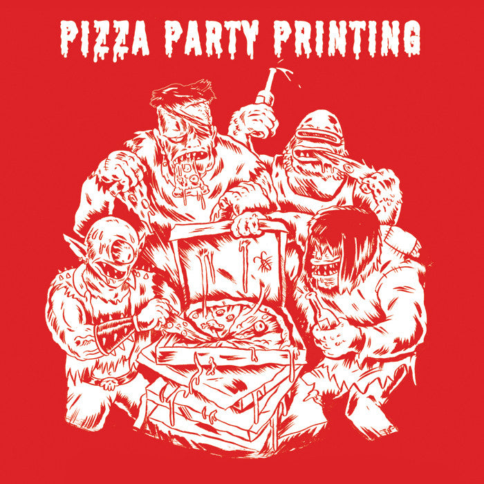 Pizza Party Printing T-shirt