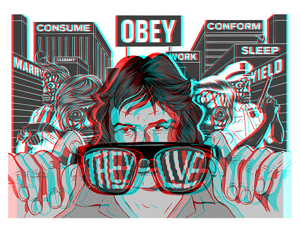 They Live! 3-D Poster with Glasses