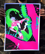 Insatiable Black Light Poster by Xanthe Bouma