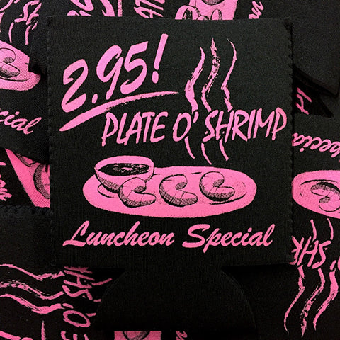 Plate of Shrimp Beer Koozies
