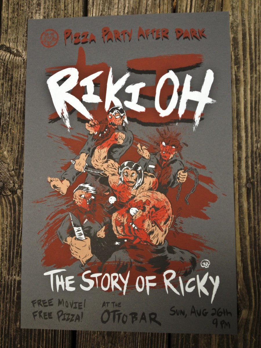 Riki-Oh Screen Printed Poster