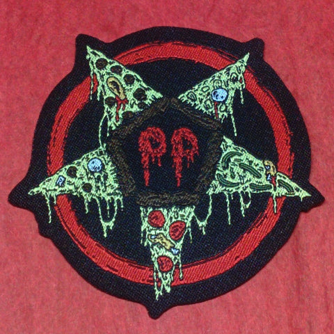 Pizza Party Woven Patches