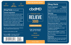 CBD Premium Relieve with 4% Lidocaine Spray (3000mg)