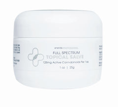 Full Spectrum CBD Topical Salve (125 mg of active Cannabinoids) (25 gm)