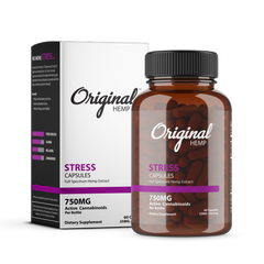 Original Hemp Stress Capsules – 60ct (750mg CBD)